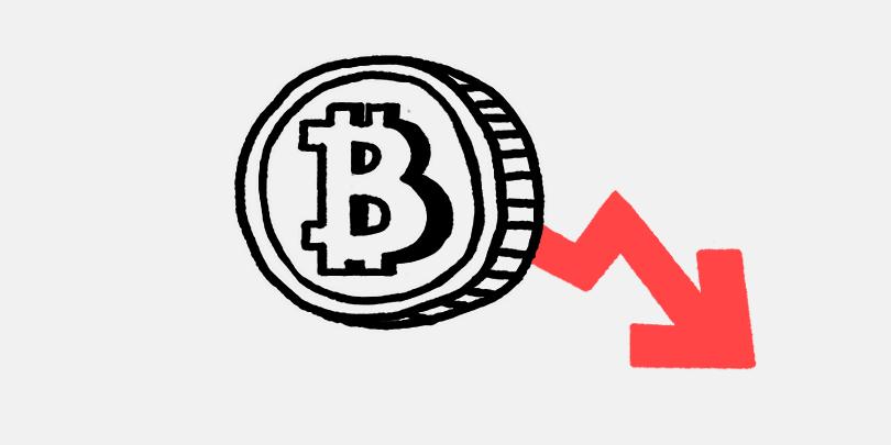 Bitcoin резко подешевел.