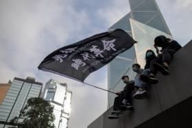Гонконгские протестующие